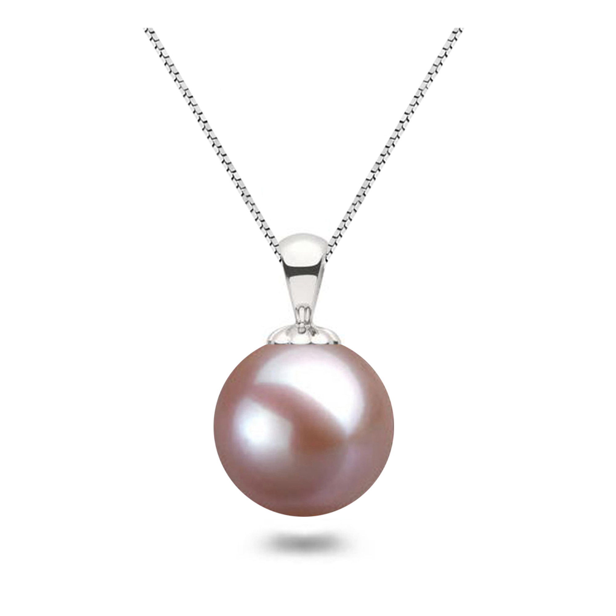 Japanese Lavender Pearl Pendants AAAA Freshwater Pearl Necklace Pendant 14K Gold Setting Pearl Pendant Necklaces for Women Free Shipping